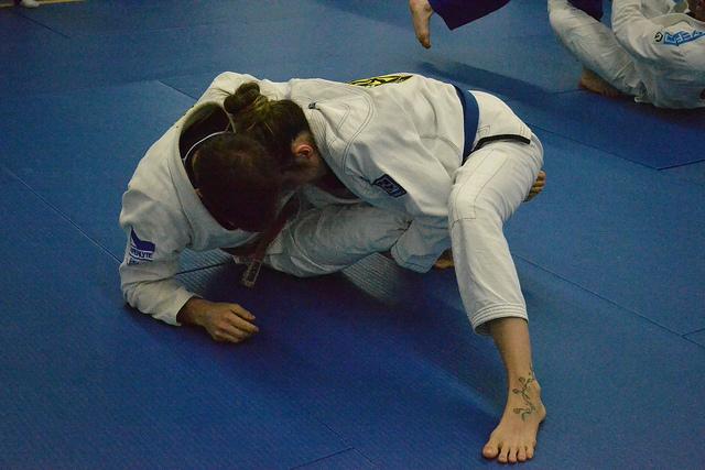 Jiu jitsu squat profond