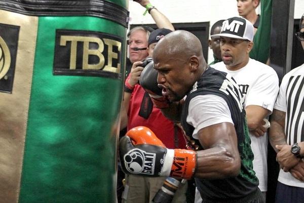 Floyd Mayweather : sac de frappe