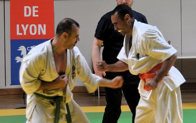 Combat karaté kyokushinkai