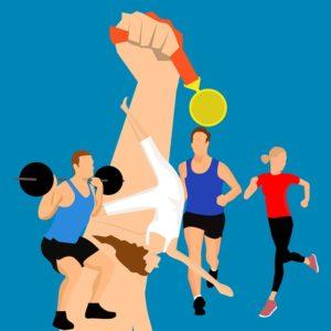 Médaille et compétition dans le sport