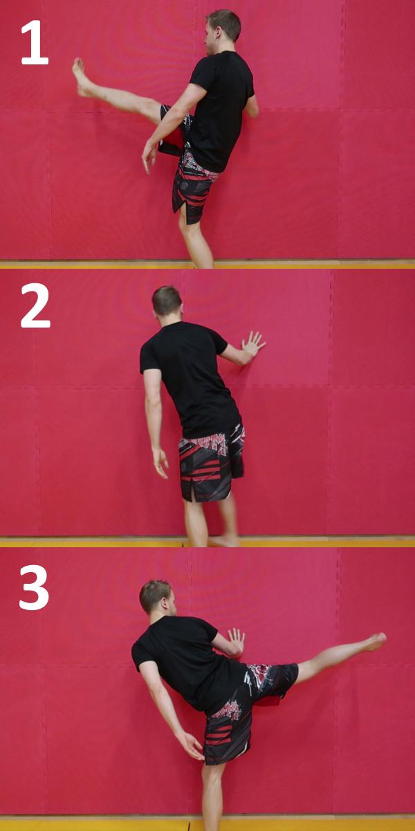 Balancement de jambe (stretching dynamique)