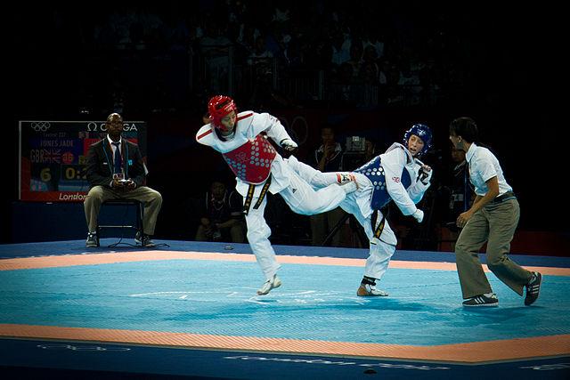Combat de taekwondo aux Jeux Olympiques