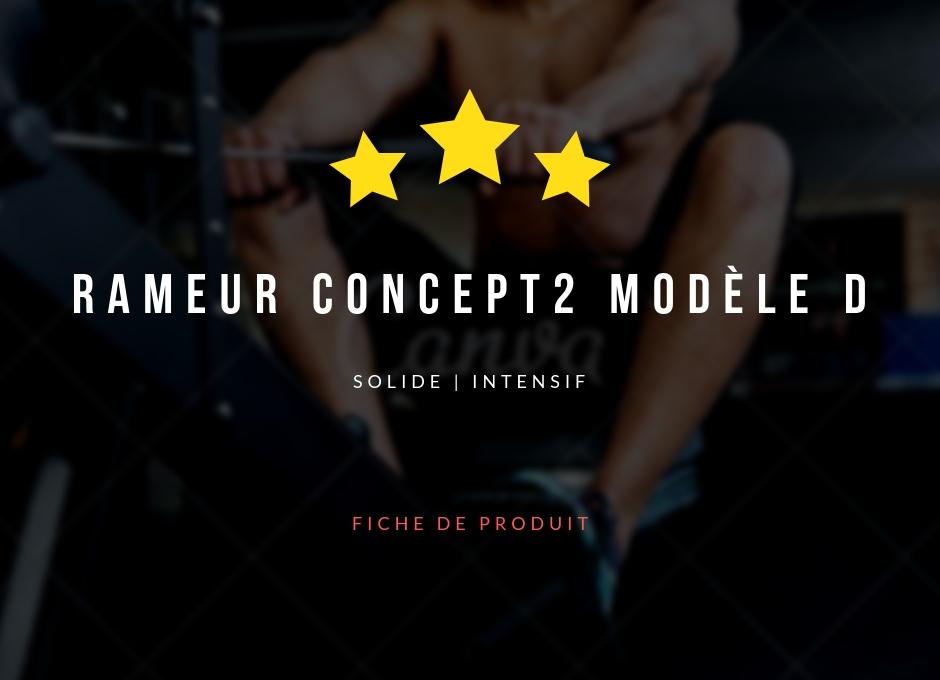 Rameur Concept2 Modèle D