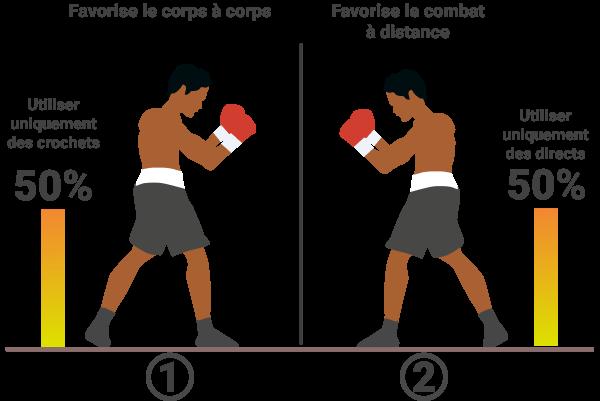 Catégories de techniques en sparring
