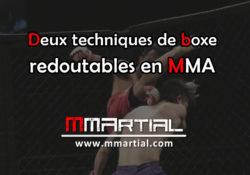 Deux techniques de boxe redoutables en MMA